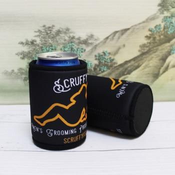 500 Uds imprimir el logotipo cerveza enfriador de lata titular de enfriador de botella promocional Stubby soportes de mantener la cerveza enfriador de cubiertas para latas de cerveza
