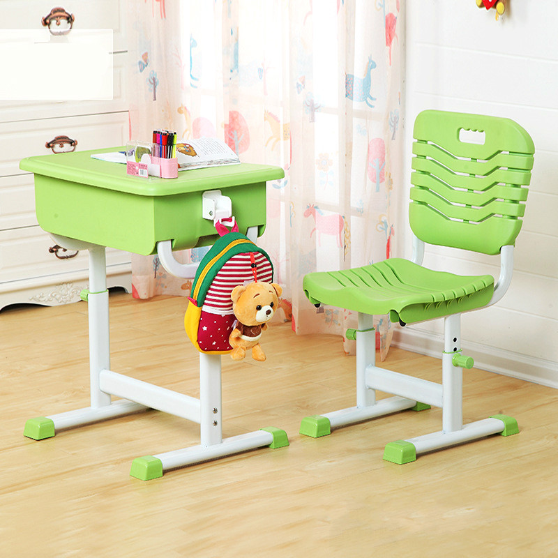 High-quality adjustable multi-function children's learning desks and chairs set Students learn desk chair correct sitting postur free shipping student desks and chairs training desk chair single and double