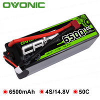 OVONIC RC Car Batteries 6500mAh 4S Lipo Battery 14.8V with Deans XT60 XT90 Plug for Car Boat Heli Quad