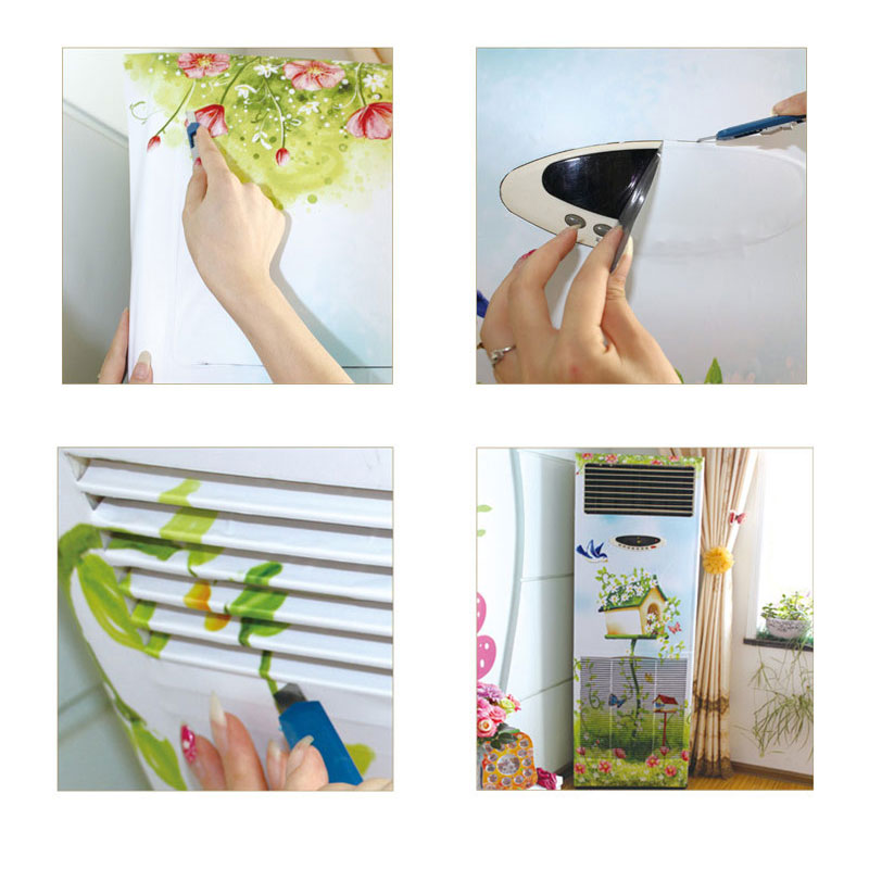 M 50 175 Air Conditioning Stickers Creative Renovation Wall Door Glass PVC Stickers Wardrobes Elevator Waterproof Stickers in Air Conditioner Parts from Home Appliances