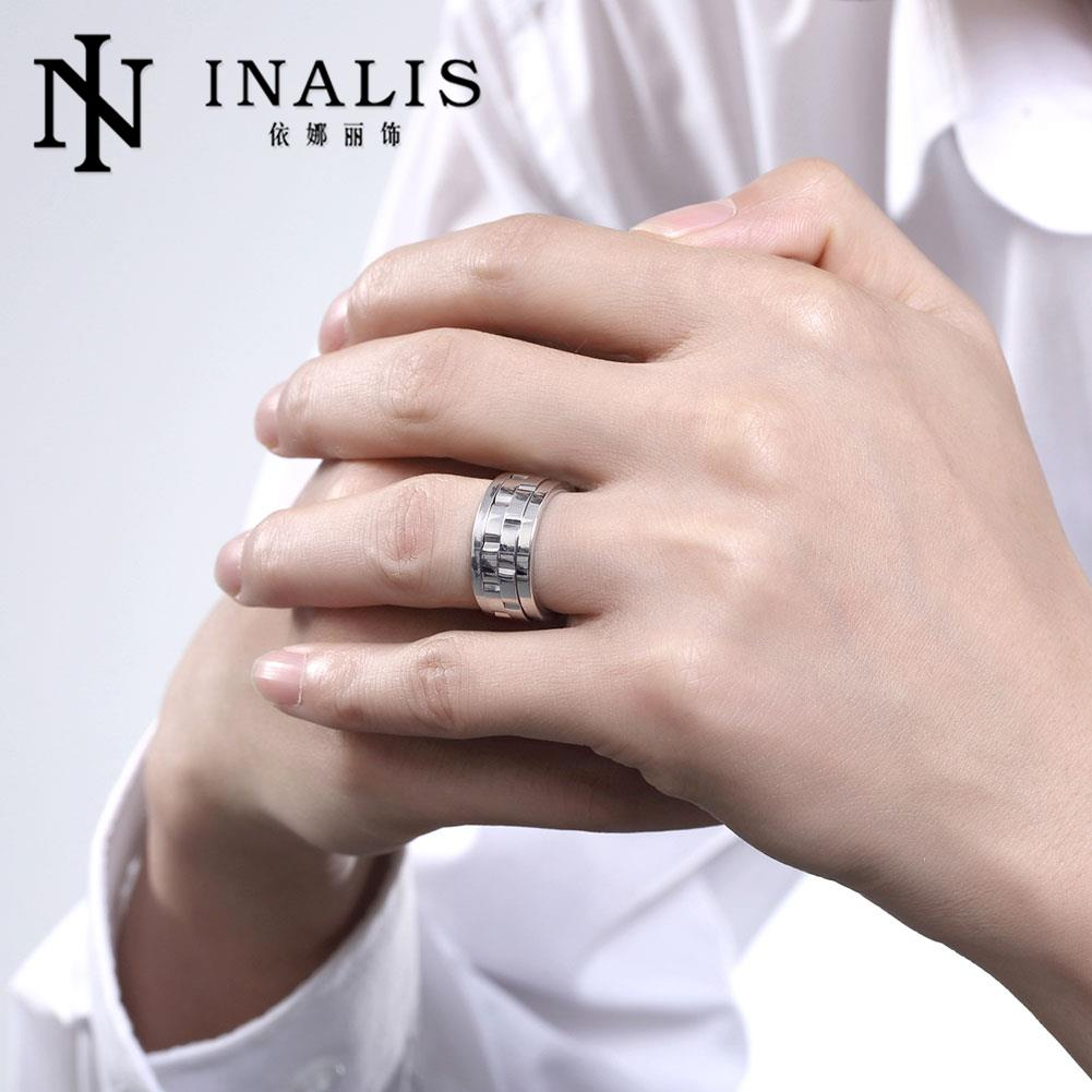 NEW Arrive Titanium Steel Ring Mens Jewelry Wedding Band male ring ...