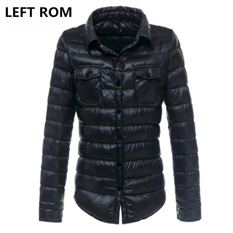 LEFT ROM Women keep warm in winter Super light thin 90% White duck   down     down   jacket/Women's bright colors slim Fit   Down     Coat