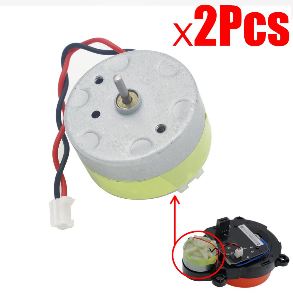 2 pçs motor de transmissão engrenagem para xiaomi mjja roborock s50 s51 s55 robô aspirador peças reposição laser distância sensor lds