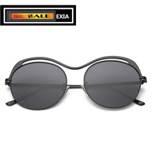 Retra Sunglasses Women Round Lenses Grey Anti-Ultra Violet with Packages EXIA OPTICAL KD-0755 Series