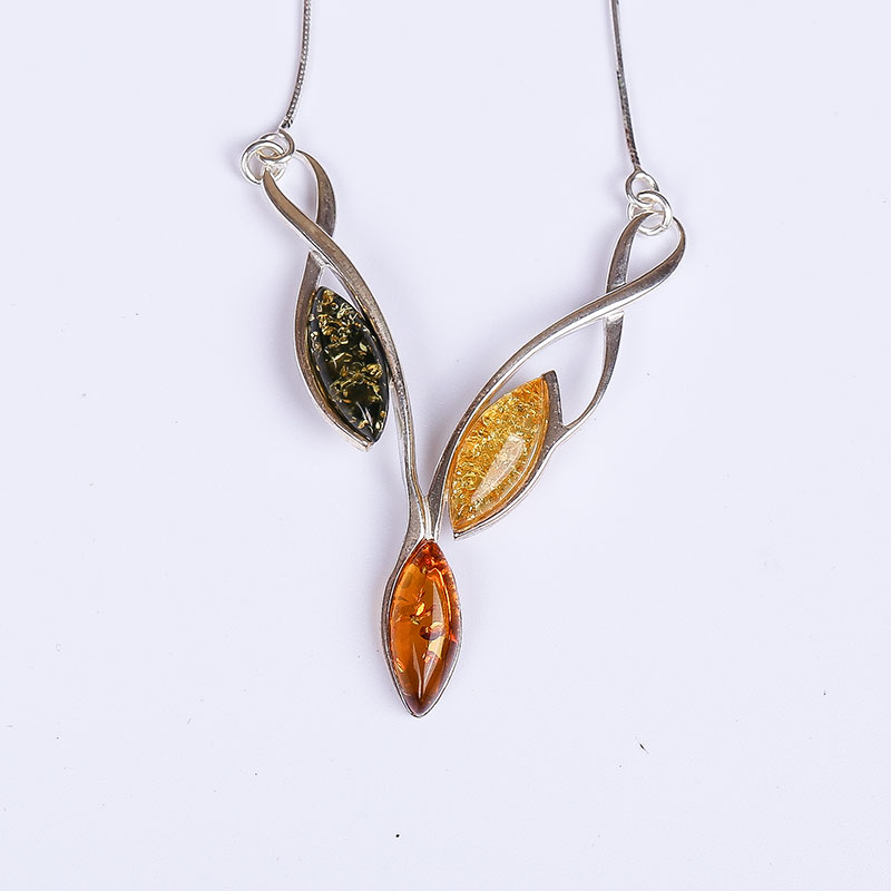 Real amber necklace Free shipping Necklace 925 sterling silver Natural real amber Fine jewelry Delivery of clavicular necklace real amber necklace necklace 925 sterling silver natural real amber fine jewelry delivery of clavicular necklace