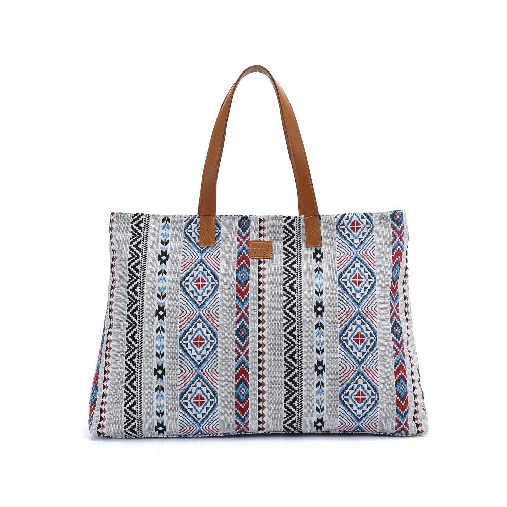 BOHO Gypsy Women Luxury Tote Bag Large Shopper Handbag Designer inspired Bohemian Beach Travel Weekender Gym
