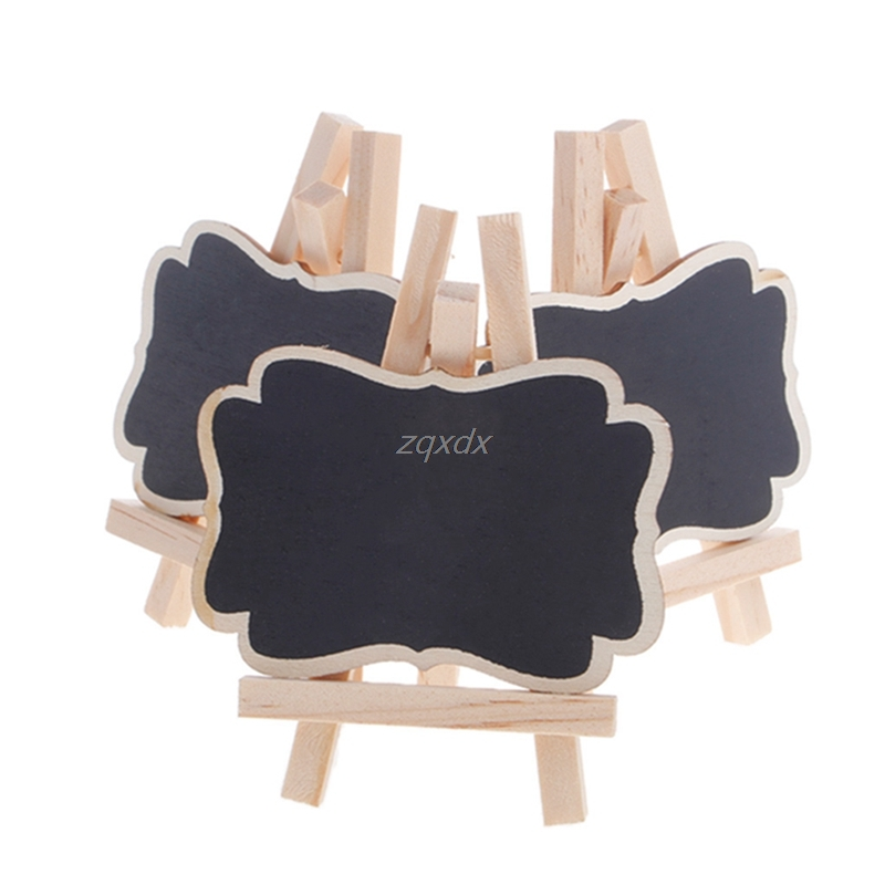 3Pcs Mini Wooden Blackboard Chalkboard Stand Wedding Party Table Decor Tags New Drop Ship