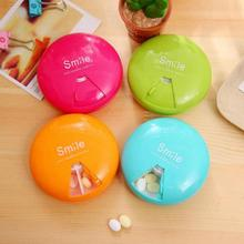 Health care Weekly Rotating Pill Box Travel Pill Case Splitter tablet Organizer Medicine Box 7 Day capsule Container storage box folding medicine plastic weekly tablet pill box case portable candy vitamin container storage organizer travel accessories