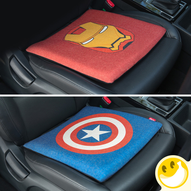 Car Seat Covers For Marvel Styling Cotton And Linen Breathable Cushion
