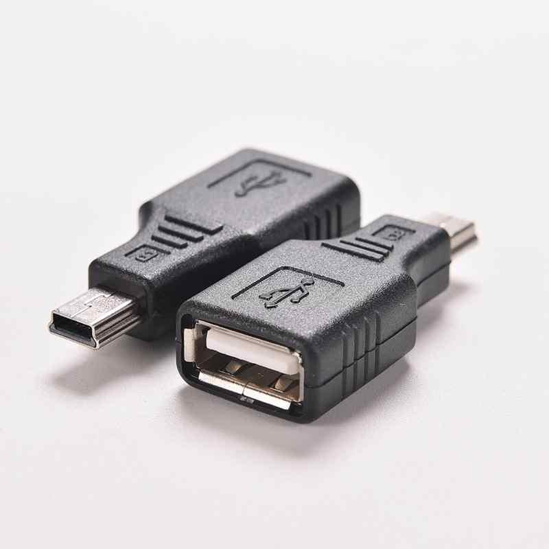 1 PC Nero F/M USB 2.0 A Femmina A Micro/Mini USB B 5 Spille Spina Maschio ospite OTG Adattatore del Convertitore del Connettore fino a 480 Mbps