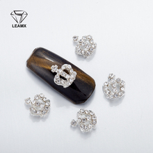 10Pcs 3D Nail Art Decorations Metal  Crown Glitter Rhinestones Nails Charms Diamonds For Manicure Decor недорого