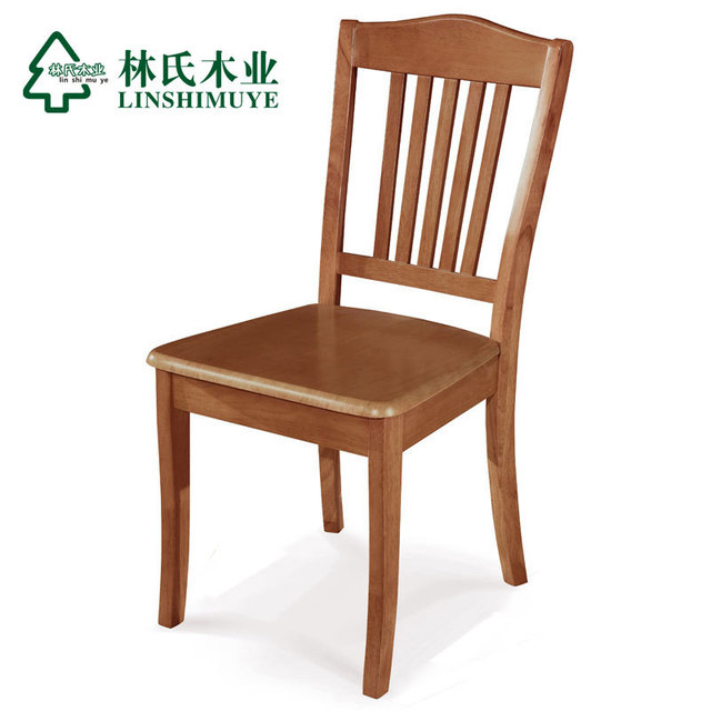 Lin Wood Modern Chinese Wood Chairs * 2 Simple Casual Dining Chairs Mahjong  Chair Child Furniture