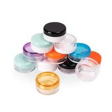 3 グラム × 200 透明小さなラウンドクリームボトルの瓶ポット容器空の化粧品プラスチックサンプル容器用収納