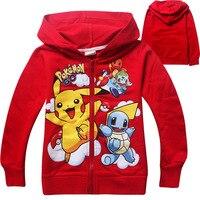 Chaqueta clásica para niños Pikachu camiseta Moana vaiana trolls historieta muchacha de la capa hoodies del suéter del deporte del bebé imprimir pokemon