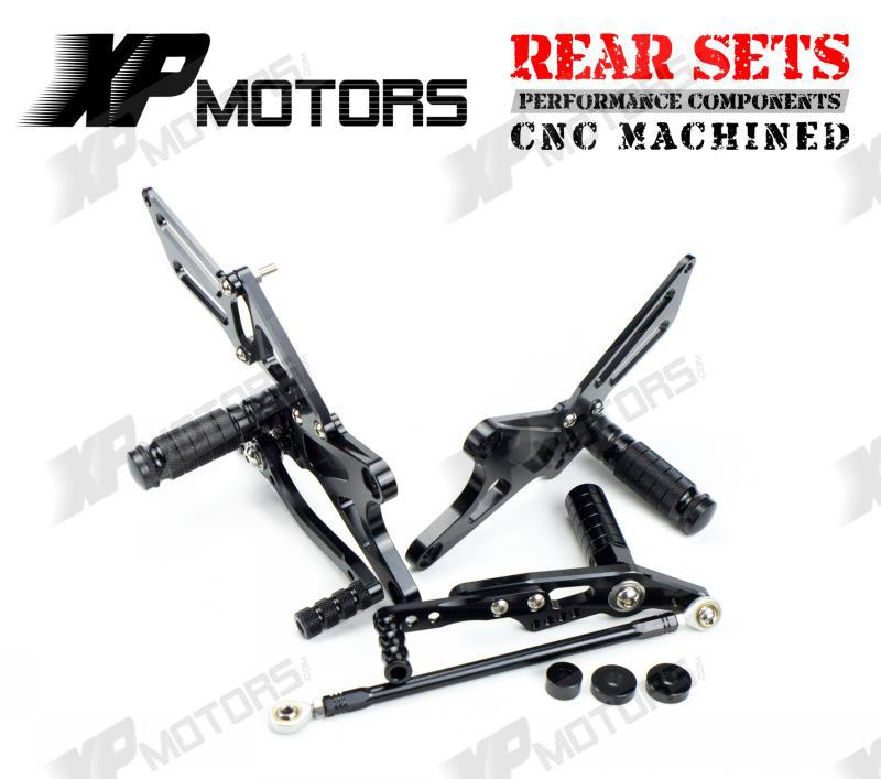 New Arrived CNC Adjustable Foot pegs Rearset Footrests Rear Sets For Yamaha YZF R1 2009 2010 2011 2012 2013 2014 Black