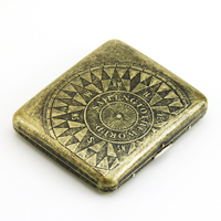 GUIPAI Compass Cigarette case (hold 20 pcs) Stainless steel cigarette holder box Smoking set gift for him