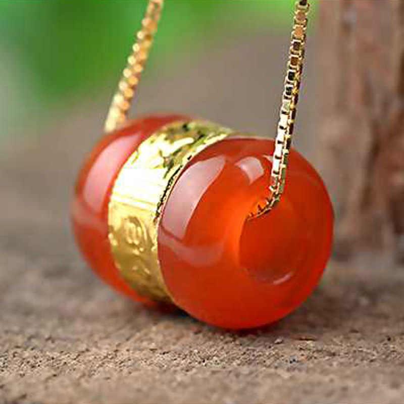 Drop Shipping Chalcedony ลูกปัดจี้ทองหยก LuLuTong สร้อยคอ Lucky Amulet เครื่องประดับสำหรับผู้ชายผู้หญิงของขวัญ