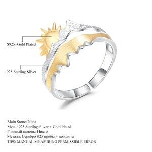 Image 5 - GEMS בלט זהב ציפוי 925 כסף טבעת נישואים טבעת בעבודת יד מתכוונן להרחיב טבעת תכשיטי אירוסין לגברים