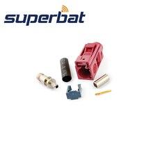 Superbat РЧ коаксиальный Fakra D Bordeauxviolet/4004 гнездовой разъем для автомобиля сотовый телефон gsm обжимной кабель RG316 RG174 LMR100