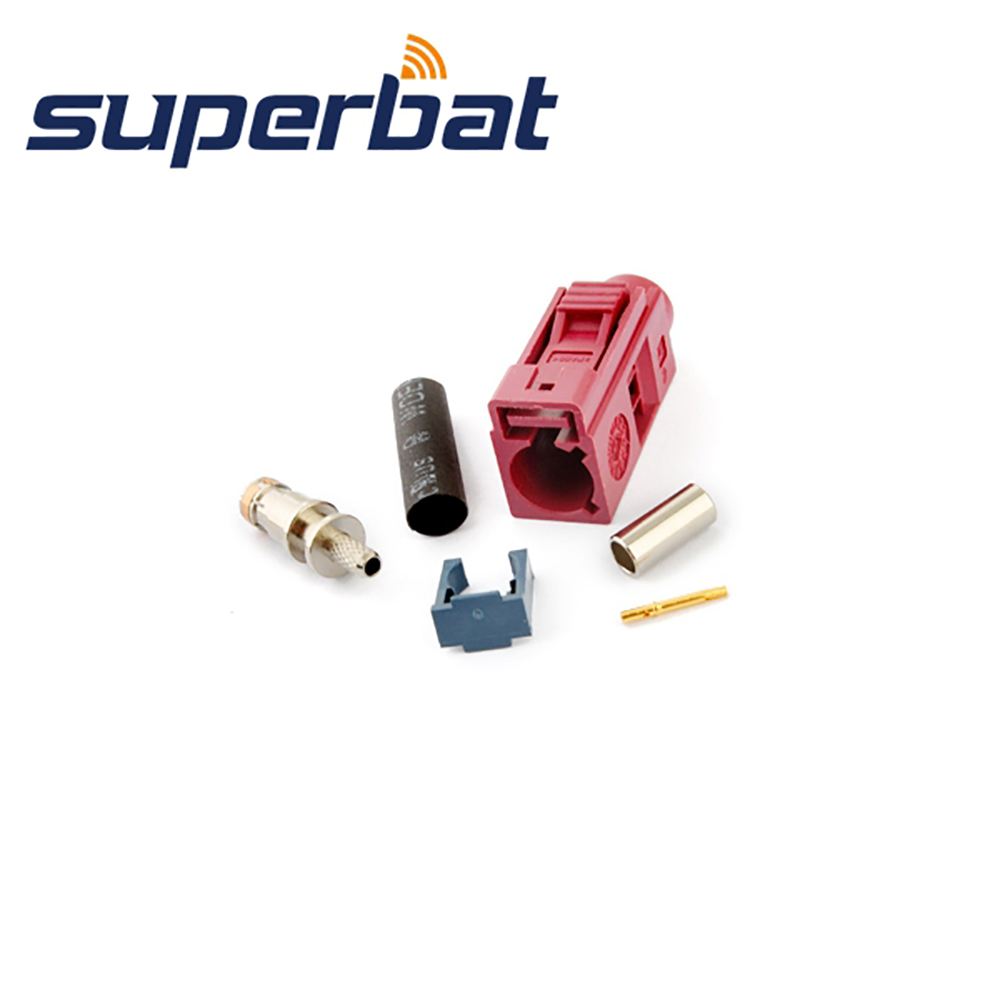 Superbat Fakra D Bordeauxviolet/4004 Female RF Coaxial Connector For Car GSM Cellular Phone Crimp For Cable RG316 RG174 LMR100