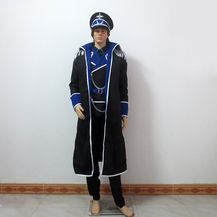 Elsword Lu Ciel Ice Loading Navy Dress Christmas Party Halloween Uniform Outfit Cosplay Costume Customize Any Size