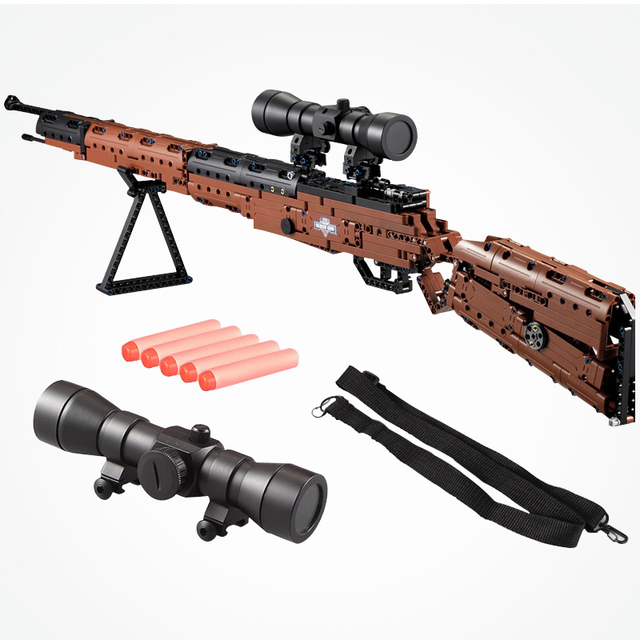 US $45 0 30% OFF|LEGOings Weapon Military Toy Mauser Kar 98k Bricks 653PCS  Building Blocks For Kids Classic Collection Compatible LEGOinglys Guns-in