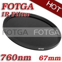 FOTGA na podczerwień na podczerwień IR filtr 67mm 760nm przejść X Ray filtr podczerwieni 67mm 760nm do Canon Sony aparatów firmy Nikon