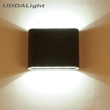 applique exterieur murale 12W 6W outdoor lighting wall lamps white/black