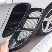 Full Carbon Fiber Side Vents For Porsche 718 Boxster Cayman Car Accessories Body Kits Styling Side Air Vents Real Carbon Fiber
