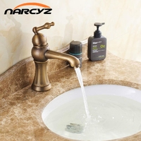 European Antique Bronze Wash Basins Basin Pots Home Basin Faucet Hot And Cold Wash Basin Faucet