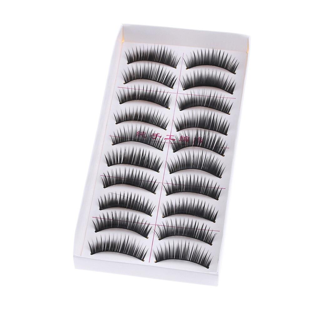 False Eyelashes Rational 10 Pairs/set New Long False Eyelashes Makeup Natural Fake Thick Black Eye Lashes Hot Sale Extension Tools As Effectively As A Fairy Does
