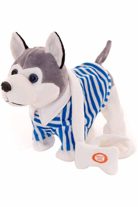 어린이 슈퍼 귀여운 플러시 장난감 전기 음악 개 전자 애완 동물 선물