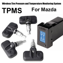 Tire Strain Alarm Programs Safety for Mazda with 4pcs Inner sensor
