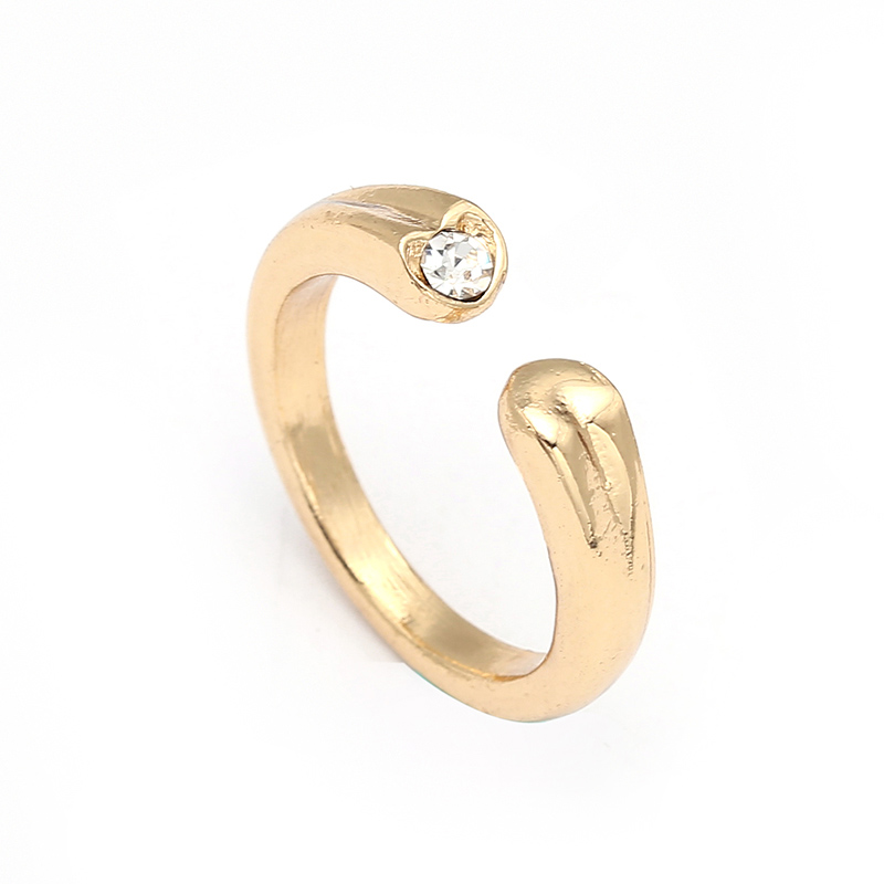 Модные плетеные кольца с кристаллами для женщин, золото/серебро/розовое золото, тонкое женское кольцо, вечерние ювелирные изделия для помолвки - Цвет основного камня: RG024
