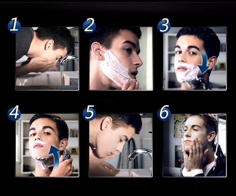 lâminas de barbear apto homem afiada o suficiente 12 pçs caixa