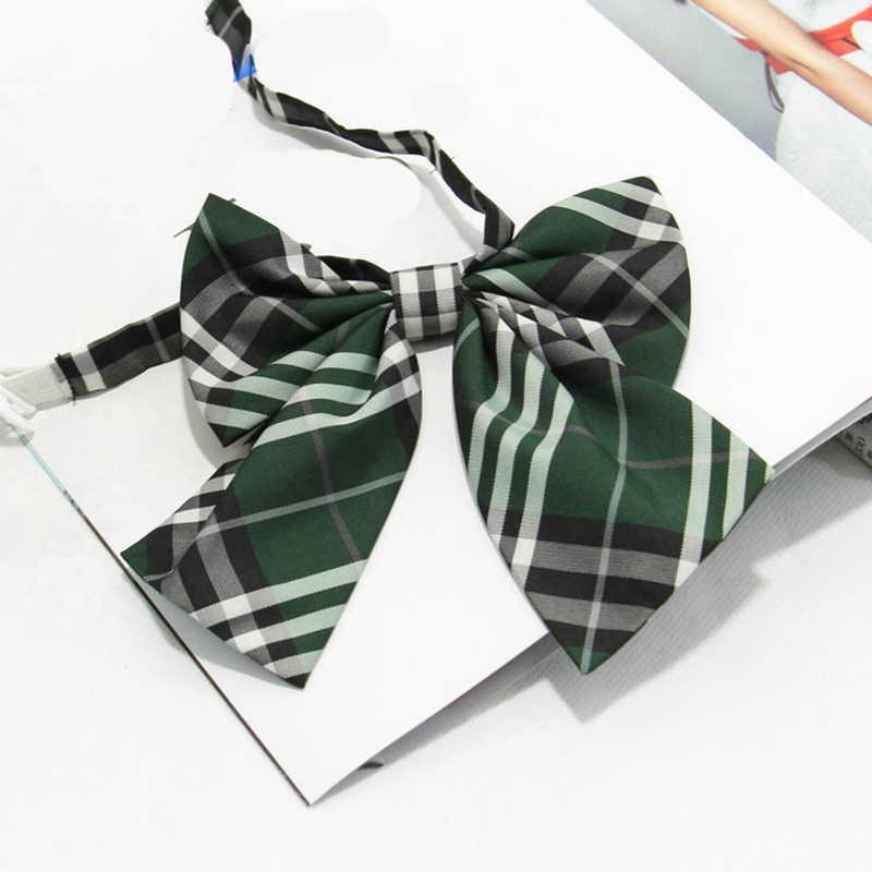 Cravates femmes rayé impression Plaid broderie Kawaii uniforme femmes noeud papillon étudiants Simple à la mode Chic all-match formel noeud papillon