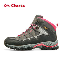 2017 Clorts font b Womens b font Hiking Boots Waterproof Outdoor Mountain Climbing Boots Suede Leahter