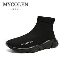 MYCOLEN 2018 Hot Sale Men's Elegant Elastic Socks Shoes New Fashion Men Boots High Top Man Trend Shoes Scarpe Uomo Invernali