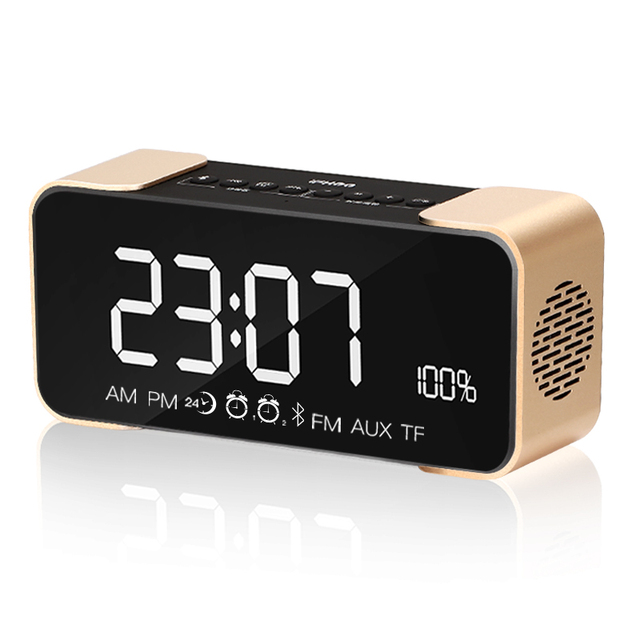 Classic Subles Digital Desk Clock Office Multi Function Table Clocks With Radio Bluetooth Small