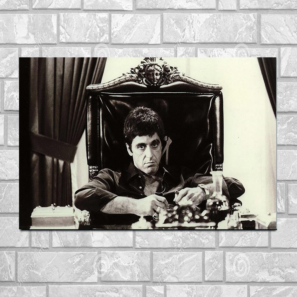 Al Pacino Scarface filmposter Wall Art zijde afdrukken Poster of - Huisdecoratie