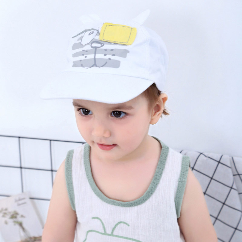 White Baby Baseball Hat Blindfolded Tiger Toddler Kids Boys Girls Sun Protection Cap with Wide Brim Duck Caps Elastic Band Adjustable Size (2)