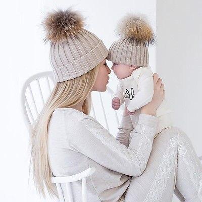 2018 2 шт./компл. вязаная шапка для мамы и ребенка с помпоном-кисточкой, зимняя теплая шапка для мальчиков и девочек, аксессуары