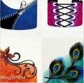 HOT 4 Unids/lote Uñas calcomanías Etiqueta Engomada Del Clavo de transferencia de agua de diseño Francés Uñas consejos de arte Decoración herramienta de la belleza al por mayor