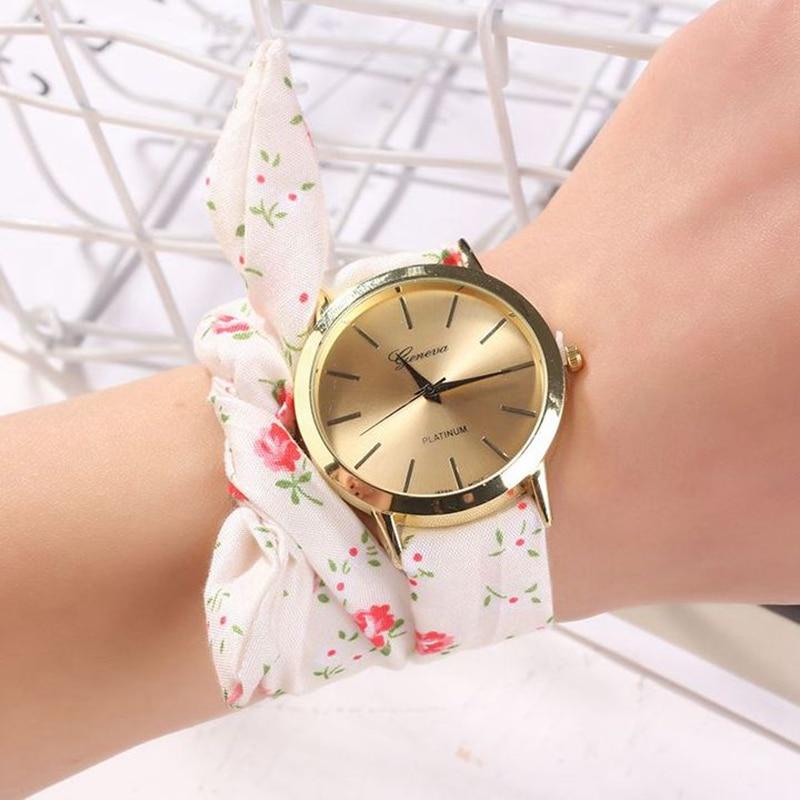 DropShipping Women Watches New Fashion Bracelet Luxury Cloth Belt Womans Wrist Watch 2019 New Montre Femme Relogio