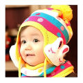 New Winter Baby Candy Hat Kids Cap With Ear Flaps Rabbit Shaped Knit Wool Long-eared Hat For 1-5 Years Old Girl and Boy