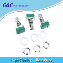цена на 3pcs 6mm 3 pin Knurled Shaft Single Linear B Type B10K ohm Rotary Potentiometer DIY Kit