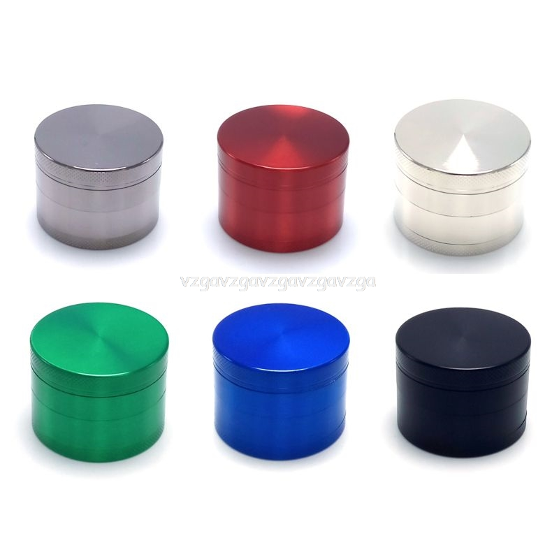 50MM 4 Layer Glitter Alloy Tobacco Grinder Hand Crank Herbal Herb Spice Crusher