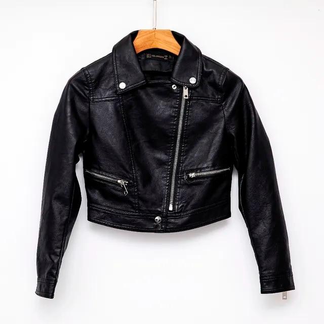 New Arrival brand Autumn Motorcycle White leather jackets black leather jacket women leather coat slim PU jacket Leather