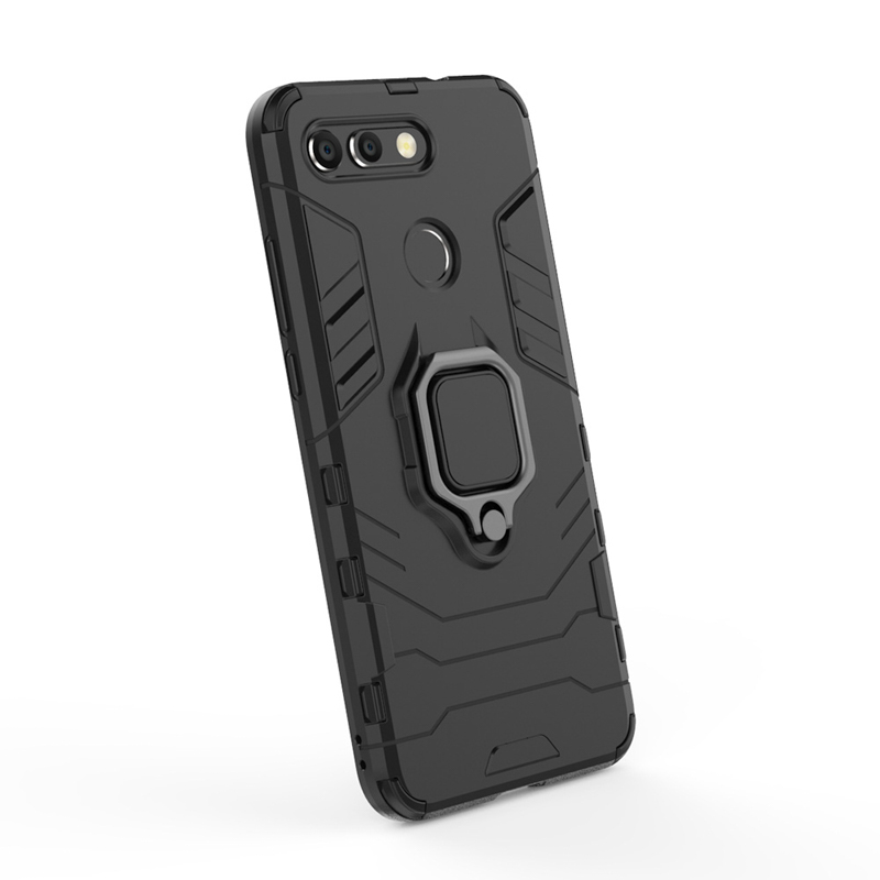 Silicone Cases For Huawei Honor View 20 8A Covers For Huawei Y7 Pro 2019 Case FingerRing Hard Bags Iron Man Housings in Fitted Cases from Cellphones Telecommunications