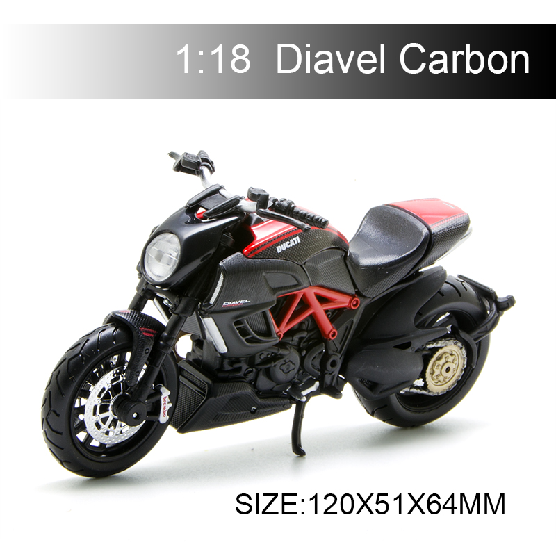 Maisto 1:18 Motorcycle Models Ducati Diavel Carbon Diecast Moto Miniature Race Toy For Gift Collection